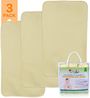 Waterproof Diaper Changing Pad Liners 2 Pack Coscod Bamboo Quilted Thicker &