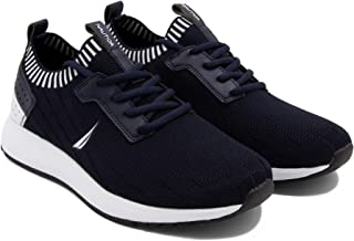 Nautica Men's Casual Fashion Sneakers-Walking Shoes-Lightweight Joggers (Slip-On/Adjustable Strap)