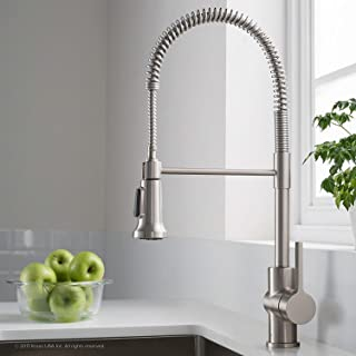 Kraus Britt Spot Free Stainless Pre-Rinse/Commercial Kitchen Faucet with Dual Function Sprayhead in all-Brite Finish, KPF-1690SFS (Renewed)