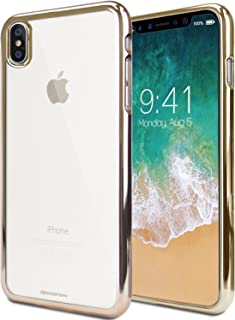 [SPECIAL PRICE] iPhone X Case, iPhone 10 Case, [Metallic Edge Finish] GOOSPERY Ring 2 Jelly Case [Flexible] Slim Thin Rubber TPU Bumper Case [Anti-Yellowing & Anti-Discoloring Finish], Gold