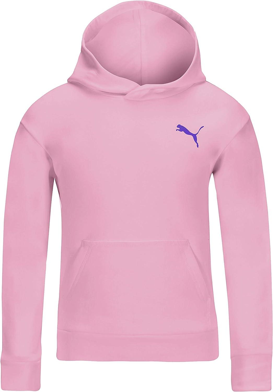 PUMA Girls' Core Logo Fleece Pullover Hoodie