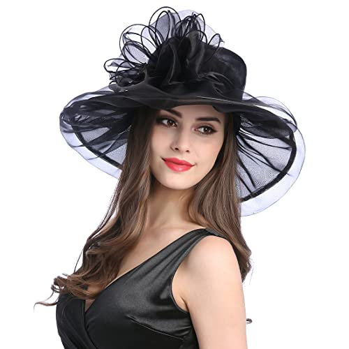 d6f0cd86ecc57 Women s Organza Church Kentucky Derby Fascinator Tea Party Wedding Hat