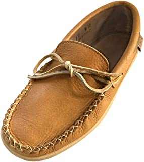 Laurentian Chief Men's Moosehide Leather Loafer Moccasin Shoes