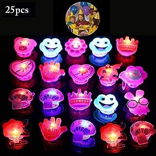 FunPa LED Brosche, 25 Stück LED Brosche Pins LED Licht Blinkende LED Leuchte Geburtstag Dekorationszubehör Party Schmuck Gastgeschenk für Kinder
