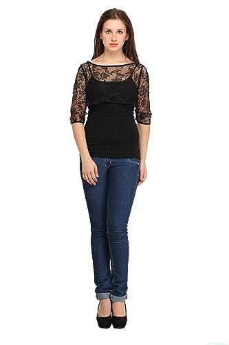 Cottinfab Women\'s Net Shrug Shirts