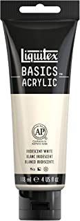 Liquitex BASICS Acrylic Paint, 4-oz tube, Iridescent White