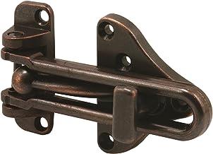 Defender Security U 11317 Protetor de porta com trava auxiliar de alta segurança, acabamento em bronze clássico, pacote com 1