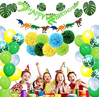 Dinosaur Party Supplies - Birthday Decorations Little Dino Party Decorations Set for Kids Dinosaur Party Favors Dinosaur B...