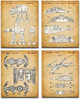 Best Original Star Wars Vehicles Patent Art Prints - Set of Four Photos (8x10) Unframed - Makes a Great Gift Under $20 for Star Wars Fans Review