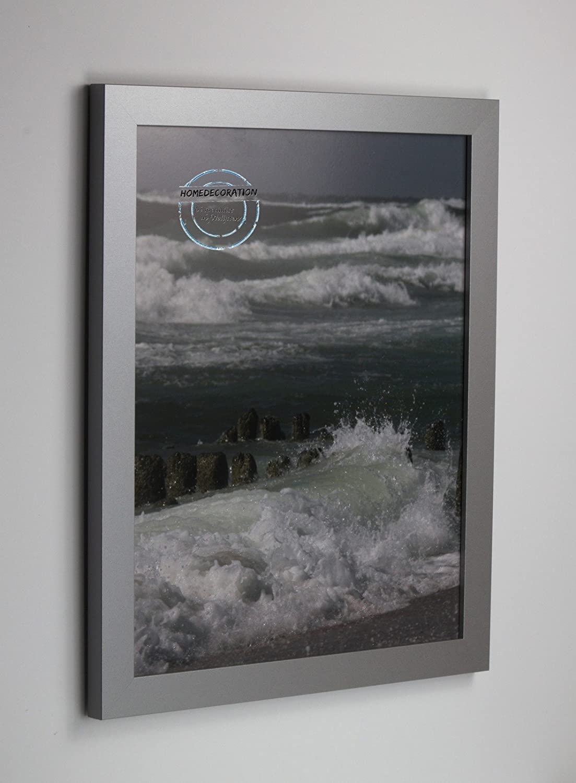 comprar marca Marco Kiruna 24 x 79 79 79 cm MDF, marco estable en el estilo Bauhaus 79 x 24cm, Color seleccionado  plata mate con vidrio acrílico transparente 1mm  tiempo libre
