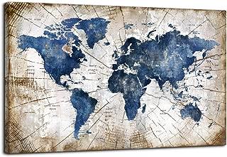 big vintage world map