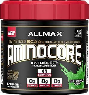 ALLMAX Nutrition Aminocore BCAAs, 100% Pure 45:30:25 Ratio, Green Apple Candy, 462g