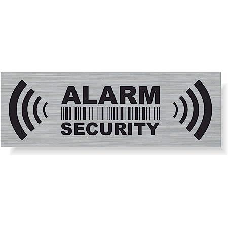 Stop Alarm System Aufkleber Sticker 4cm Warnung Hinweis Gesichert Gespiegelt Für Innenseite Fenster Scheibe 5 Auto