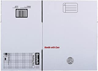 """3M Scotch Mailing Box-Mailing Box, Size E,Labels Included,16""""x12""""x8"""",White"""