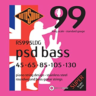 Rotosound RS995LDG Psd Stainless Steel 5 String Bass Guitar Strings (45 65 85 105 130)