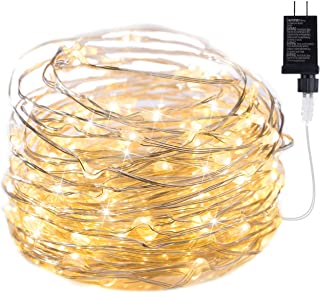 100 LED Fairy Lights 32 Ft Firefly String Lights Waterproof Starry Lights on Silver Coated Copper Wire Perfect for Christmas Party DIY Wedding Bedroom Indoor Party Decorations Warm White