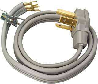 Coleman Cable 09126 30-Amp 3-Wire Dryer Power Cord, 6-Foot (Renewed)