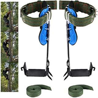 Paddsun Tree Climbing Spike Set 2 Gears with Adjustable Safety Harness Belt Straps,Stainless Steel Tree Pole Climbing Shoe...