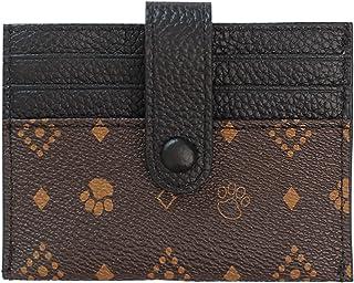 محفظة المرأة حظر دفتر الشيكات المحفظة مع فتحات بطاقات الائتمان البريدي حول حامل محفظة جلدية صغيرة محافظ للنساء