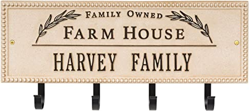 Whitehall Personalized Farmhouse Plaque – Indoor/Outdoor Cast Aluminum Sign with 4..