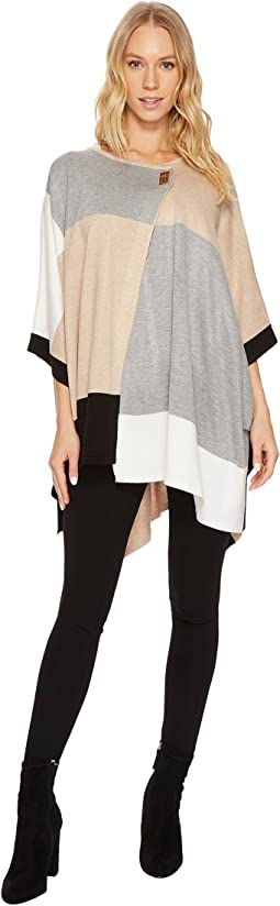 Calvin Klein - Color Block Poncho Sweater