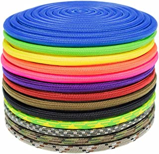 Nylon Accessory Cord 1/4 Inch (6 MM) and 5/16 Inch (8 MM) Paramax Nylon Cord - All-Purpose Utility - for Dog and Pet Collars, Belts, Gear Bundles, Tie-Downs, Horse Halters (50 Feet and 100 Feet)