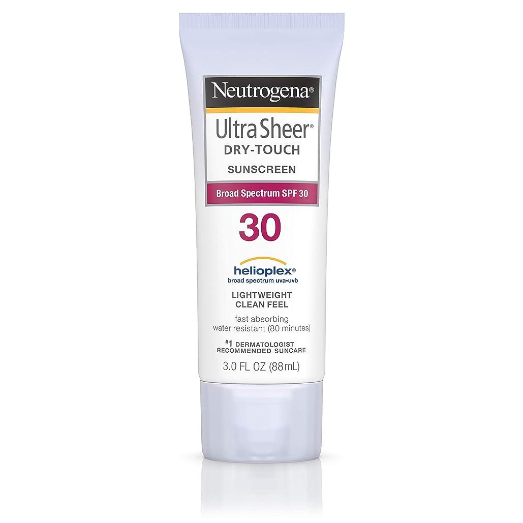 褒賞慰めおそらくNeutrogena Ultra Sheer Sunblock Dry Touch SPF 30 (並行輸入品)