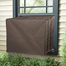 Air Jade Outdoor Cover for Window Air Conditioner A/C Unit Defender Winter Outside Covers Brown (27''W x 19''H x 25''D)