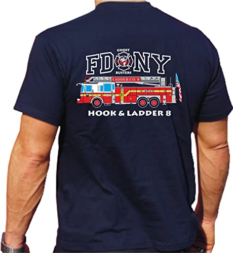 FEUER1 T-Shirt nouveau York Fire Dept. Ladder Truck 8 - Ghost Busters