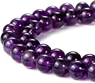 6mm Natural Amethyst Beads Round Gemstone Loose Beads for Jewelry Making (63-66pcs/strand)