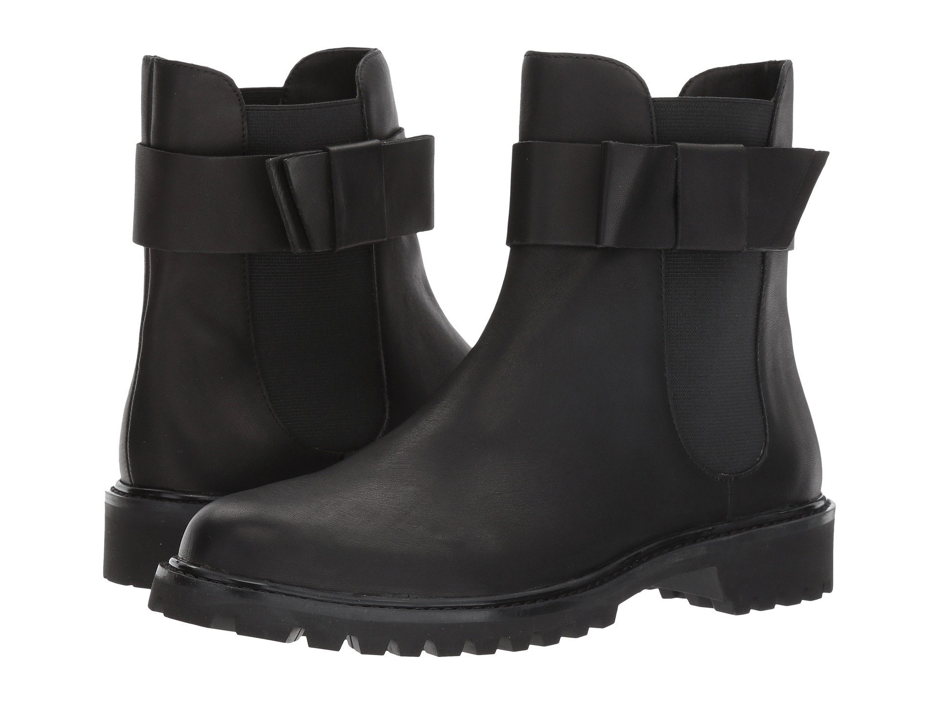 Hollie Leather Chelsea Boots in Black Calf Leather