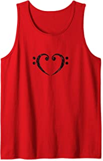 Bass, Clef, Heart, I LOVE, Music, Bassist, Musician, Band, Tank Top