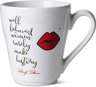 Ceramic Reusable Coffee/Tea Mug: Cute Novelty Marilyn Monroe Coffee or Tea Cup - Well Behaved Women Rarely Make History - 15 oz.