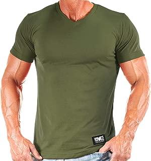 Men's Bodybuilding Workout Gym Training Soft V-Neck T-Shirt