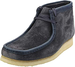 Clarks Wallabee Hairy Suede Bottes Marine pour Hommes
