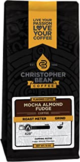 Christopher Bean Coffee Flavored Whole Bean Coffee, Mocha Almond Fudge, 12 Ounce, Color May Vary