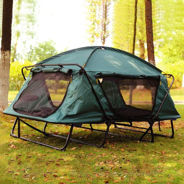 地面のテントから多機能シングルテントベッド防水と冷たい屋外レジャー折りたたみ釣り屋根を構築します。