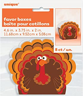 Turkey Thanksgiving Favor Boxes, 8ct