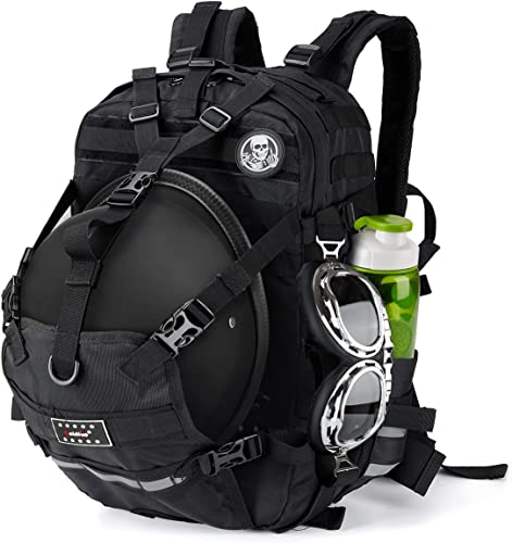 new arrival Motorcycle Large Capacity Helmet Backpack online ,Motocross Riding Racing Storage Bag , Storage Bag with Reflective outlet sale Stripe,Perfect Carry on Travel Backpack. online