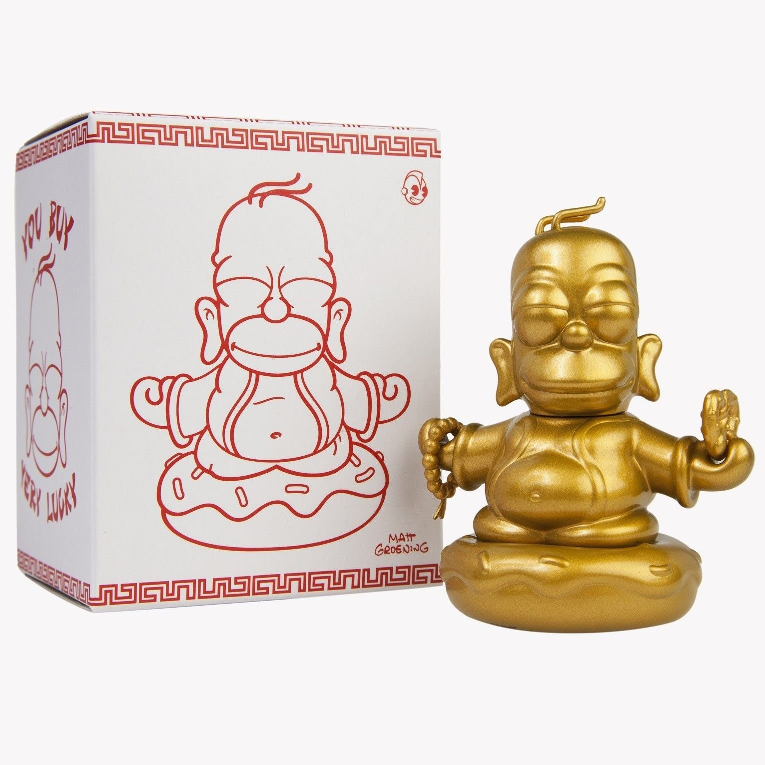 Kidrobot The Simpsons Homer Buddha Figur