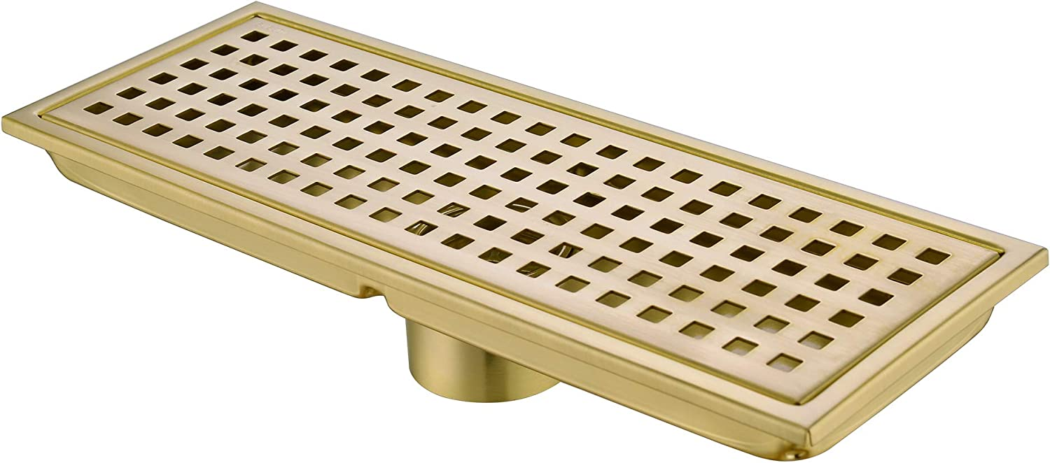 Orhemus Max 75% OFF Linear Shower Floor Spring new work one after another Drain Grat Cover Grid Removable with