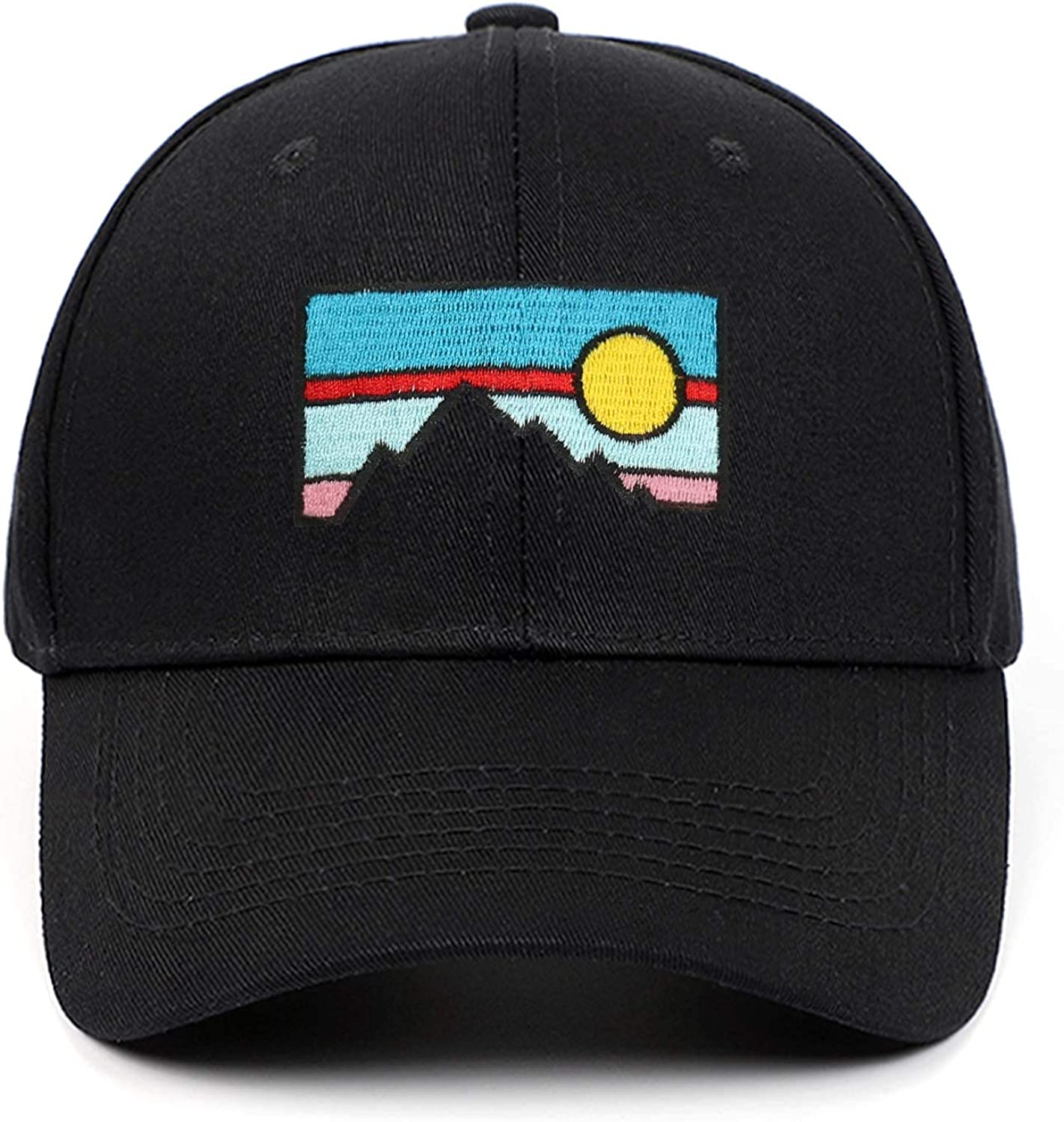 Embroidered Sunset and Dusk Caps Scenery Men Women Baseball Cap Pure Color Snapback Hat