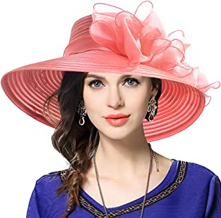 VECRY Lady Derby Dress Church Cloche Hat Bow Bucket Wedding Bowler Hats