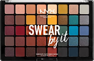 Nyx Professional Makeup Swear By It Oogschaduwpalet, Warme en Koude Tinten, Mat, Gesatineerd en metallic, Shaddow Palette,...