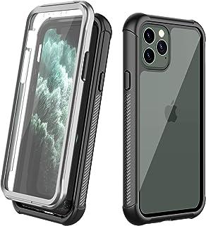 iPhone 11 Pro Max ケース 6.5インチ 耐衝撃ケース 360全面保護 米軍MIL規格 薄型 軽量 ワイヤレス充電 クリア 脱着簡単 画面保護フィルム付き フィット感が良い 楽に操作 アウトドア適 スポーツ 安心感 アイフォン ...