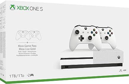Xbox One S - Pack Con Consola 1 TB, 2 Mandos Y 3 Meses De Game Pass (Edición Exclusiva Amazon)