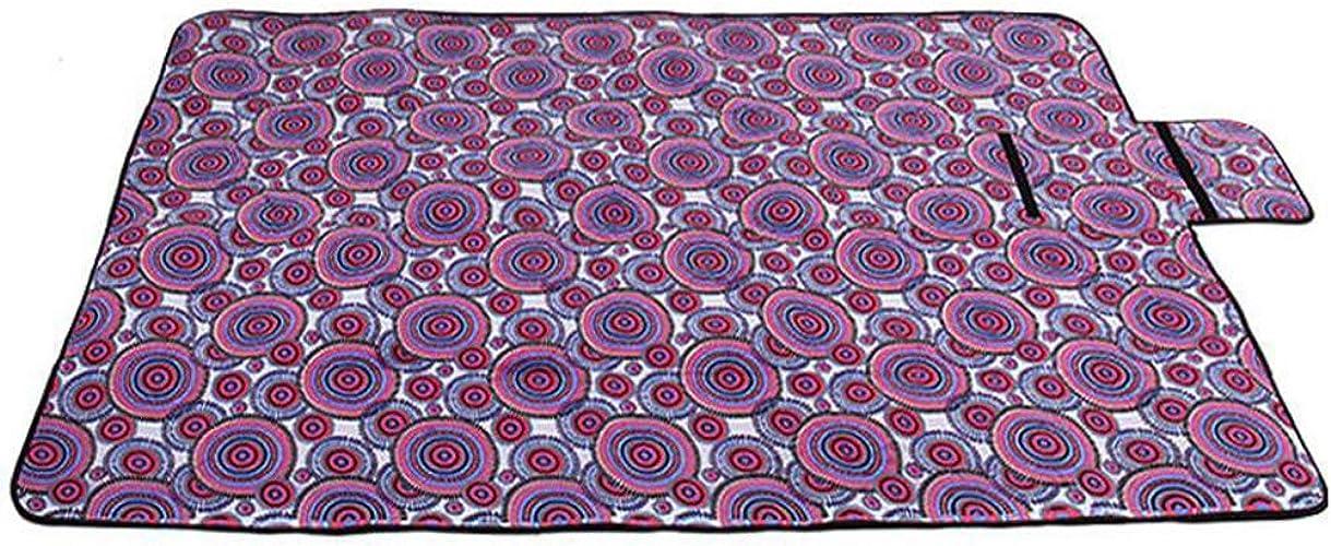 JAOFonctionneHommest Fournitures d'extérieur Tapis de Plage Pliant Tapis imperméable à l'eau résistant à l'humidité de Tapis de Pique-Nique pour bébé,violetcircle