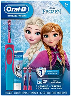 Black Friday: Oral-B Stages Vitality Kids Disney's Frozen Rechargeable Electric Toothbrush + Toothpaste Bundle Pack (3+)