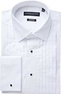 Men's Modern Fit French Cuff 100% Cotton Tuxedo Shirt - Laydown & Wingtip Collar