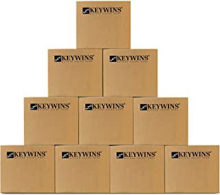 Keywins Storage Boxes With Handles-Carton cardboard box for moving and packing and shipping And Archive -PACK OF 10 PIECES...